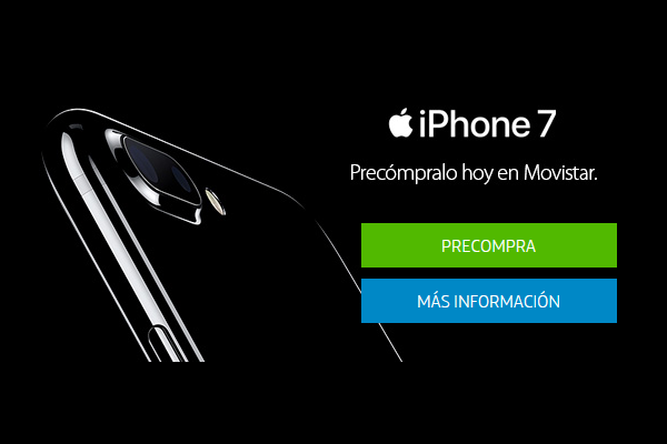 Movistar pone en preventa el iPhone 7 y iPhone 7 Plus