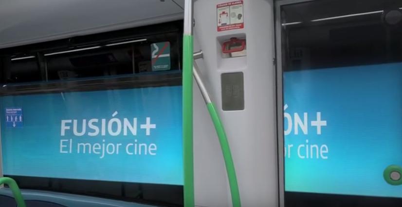 Telefónica y Metro de Madrid estrenan innovador sistema de publicidad
