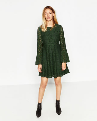 vestido de zara guipur