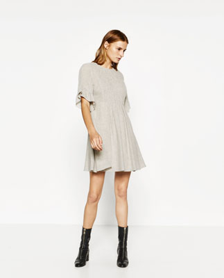 vestido de zara metalizado