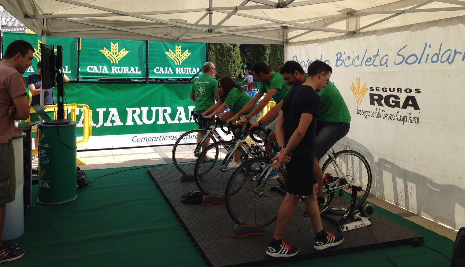Bicicletas estáticas solidarias