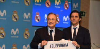 Movistar real madrid jose maria alvarez pallete florentino perez
