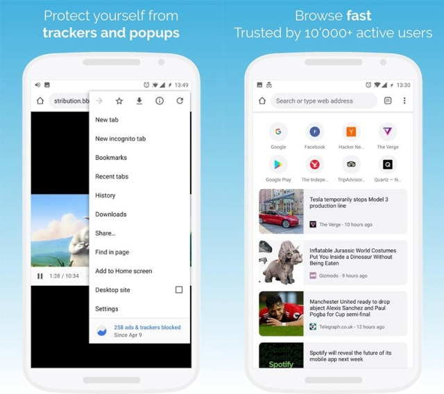 KiWi-Browser-interfaz