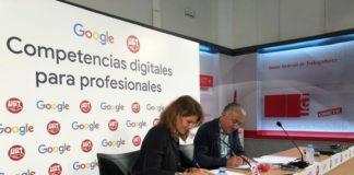 Google y UGT. Acuerdo
