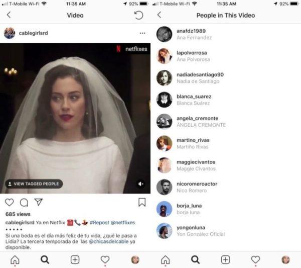 Instagram etiquetar amigos vídeos