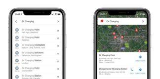 Google Maps coches eléctricos
