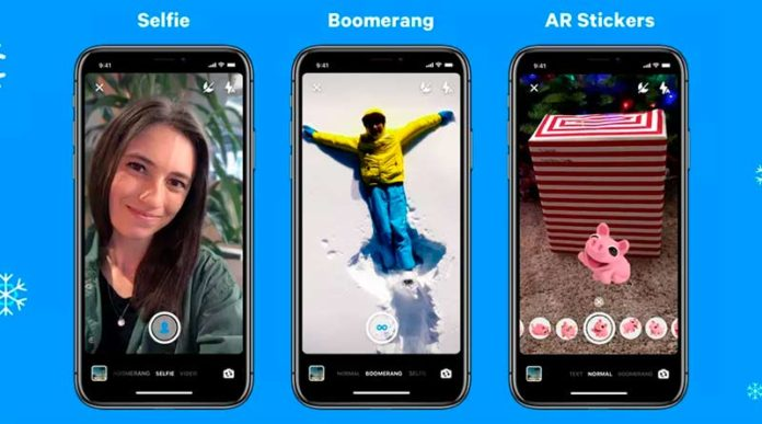 Messenger boomerangs Modo Selfie