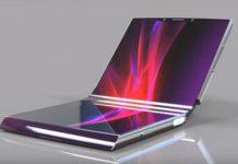 Sony móvil plegable transparente