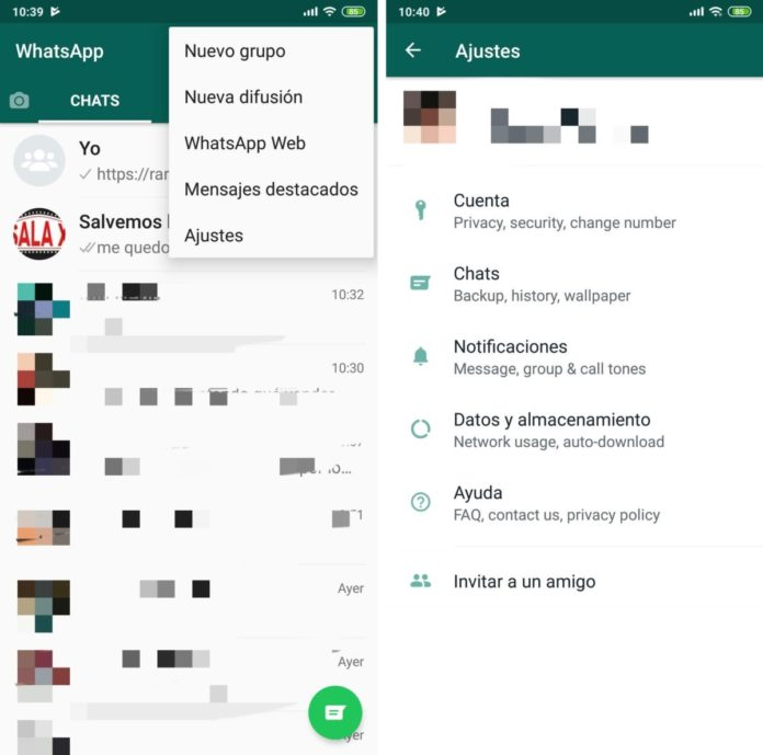 WhatsApp Android 9.0 Pie