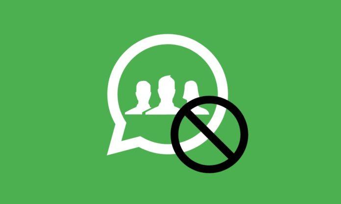 Bloqueo grupos WhatsApp