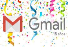 Gmail 15 años