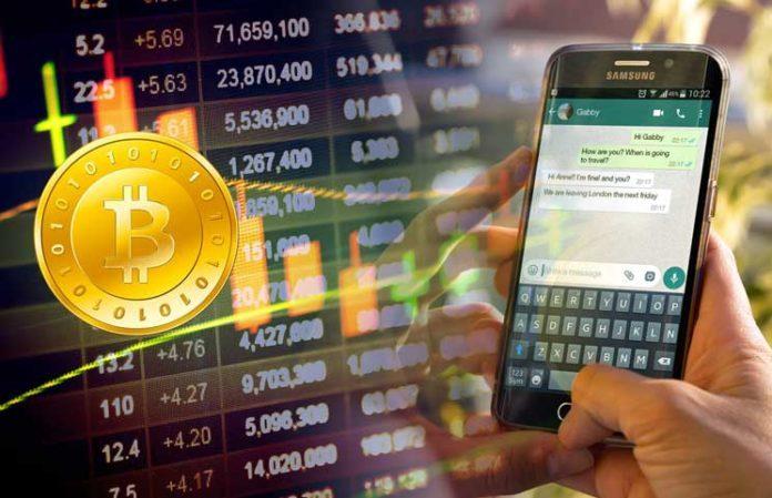 WhatsApp enviar Bitcoins