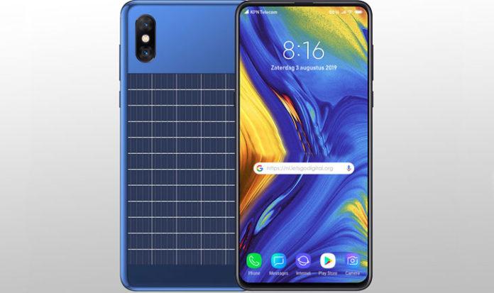 Xiaomi teléfono placas solares