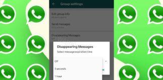 WhatsApp mensajes autodestruyen
