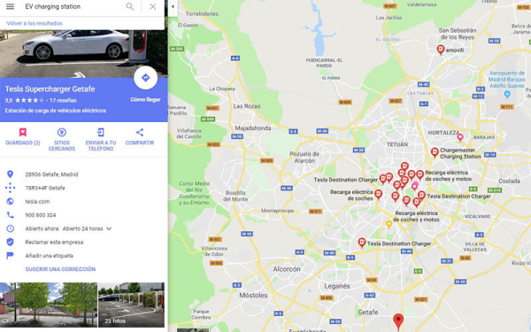 tipo de conector google maps