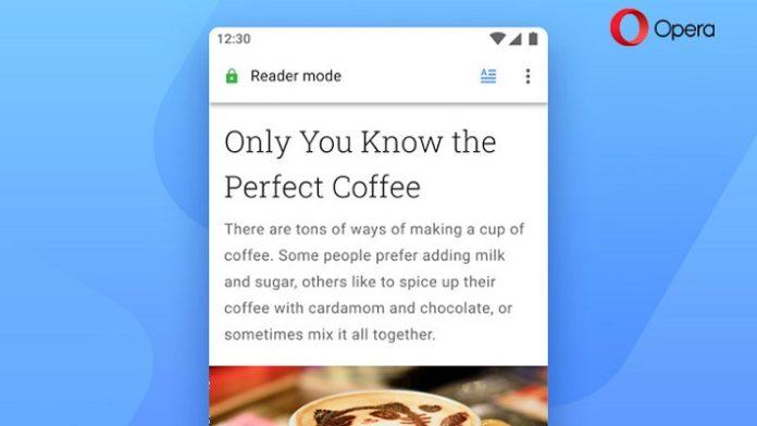 Opera 56 modo lectura