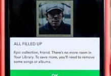 Spotify límite canciones