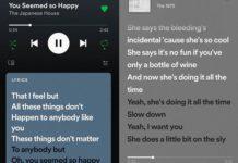 Spotify letras canciones