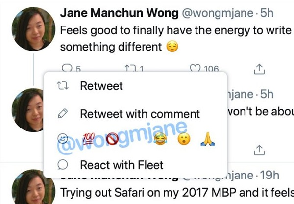 Twitter reacciones Facebook