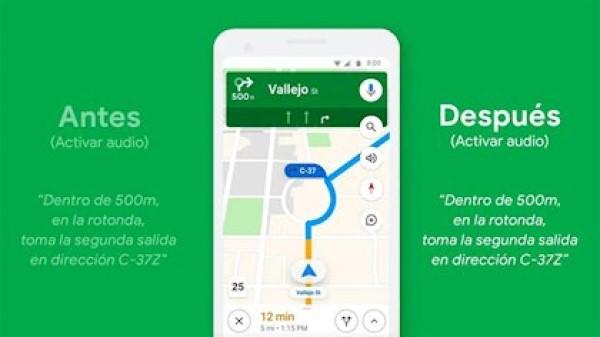 google maps cambia voz