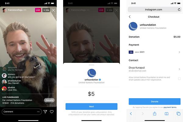 Instagram recaudar dinero
