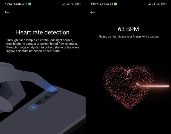 Salud Xiaomi ritmo cardíaco