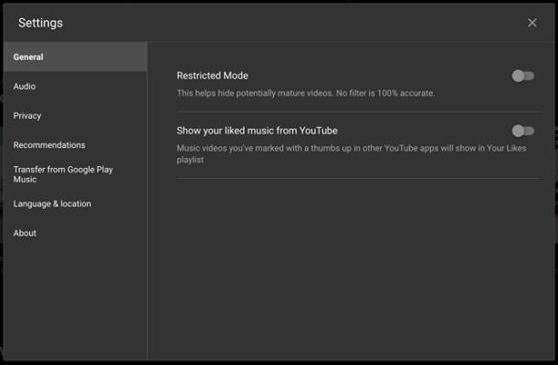 YouTube Music ocultar Me Gusta