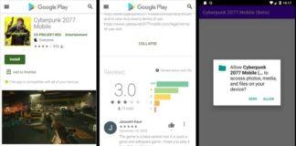 Cyberpunk 2077 Android app