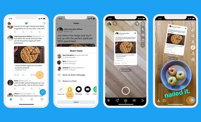 Twitter tweets Instagram Snapchat