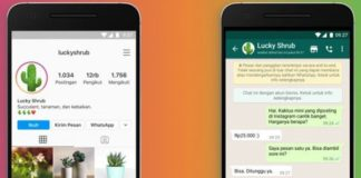 WhatsApp botón perfiles empresa Instagram