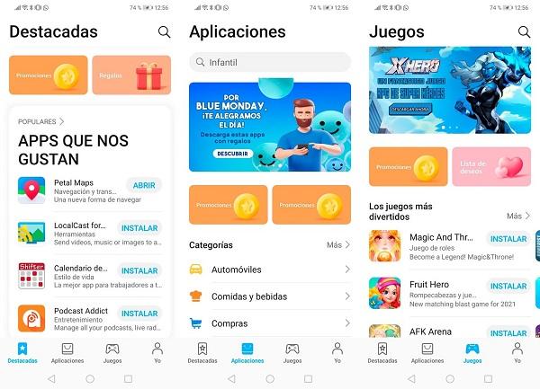 Huawei AppGallery actualización