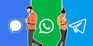 WhatsApp Signal Telegram