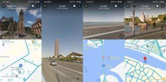 Google Maps Street View pantalla dividida