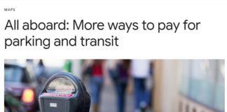 Google Maps pagar transporte público
