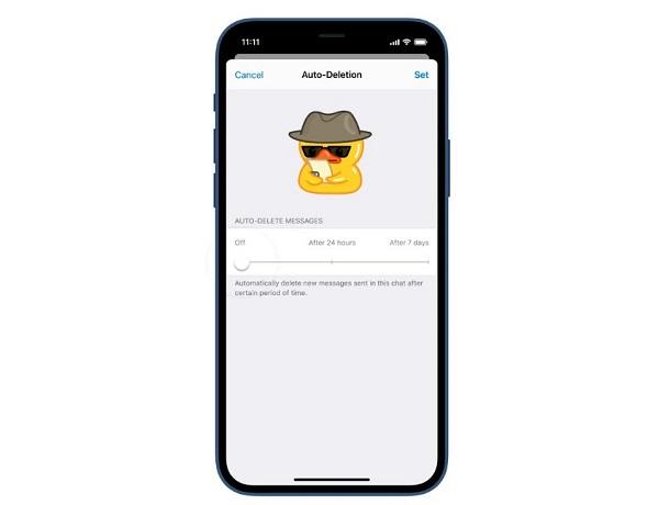 Telegram mensajes destruyen