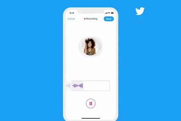 Twitter notas de voz DM