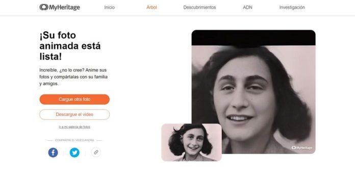 Deep Nostalgia MyHeritage fotos antiguas