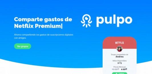 Pulpo aplicación compartir gastos Netflix