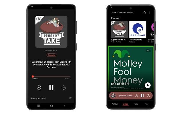 Samsung Free podcasts