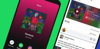 Facebook mini reproductor Spotify
