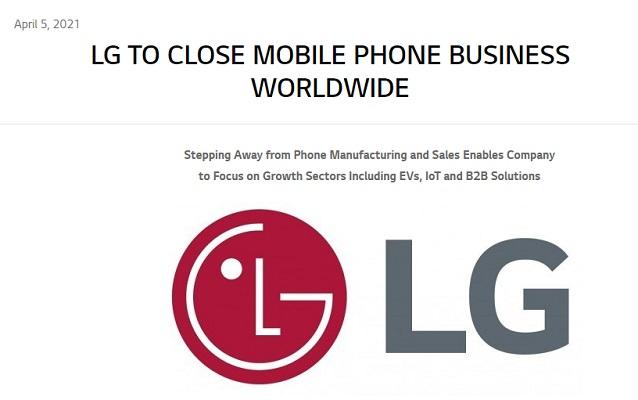 LG cierre división móviles