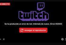 Twitch caído Telefónica