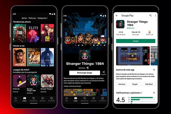 Netflix videojuegos España
