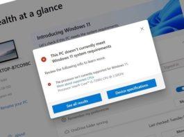 PC Health Check compatibilidad Windows 11