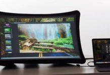 Splay pantalla plegable monitor proyector
